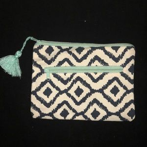 New MakeUp Bag: Navy Off-White and Sky Blue